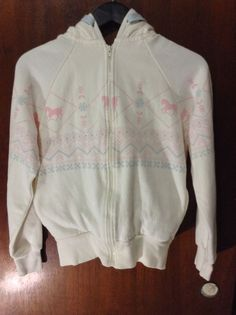 U.S. Polo Assn Hooded Hoodie Women's Jacket Sweater Size Large Pink Pony Horse #USPoloAssn #Hoodie