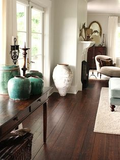 Dark Hardwood Floors