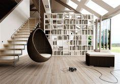 cocoon vajicko z umeleho ratanu hneda  3 Hanging Baskets, Hanging Chair, Guest Room, Bookcase, Shelves, Furniture, Design, Home Decor, Cruiser Bicycle