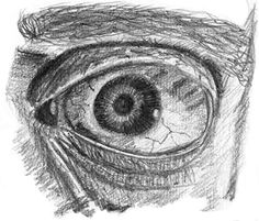 Zoomed in. Eye study made with graphite pencil.