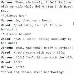 Well Jared married somebody in the SPN cast so