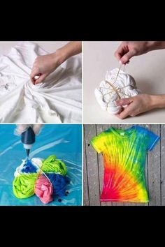 How to tie dye your plain old T-shirt