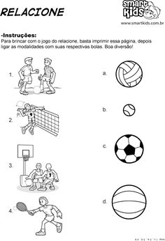 marinteh - 0 results for education English Worksheets For Kindergarten, English Activities, Worksheets For Kids, Sports Day Activities, Sports Coloring Pages, Spanish Language Learning, School Sports, Educational Games, Preschool Printables