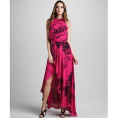 Halston Heritage - Printed Jersey Gown - $417.00 (40% off)