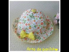 Diy como fazer chapeu infantil de 6 meses a 4 anos com molde - YouTube Sewing Baby Clothes, Baby Sewing, Easy Fall Crafts, Diy And Crafts, Baby Frocks Party Wear, Baby Changing Mat, Hat Tutorial, Baby Dress Patterns, Baby Turban