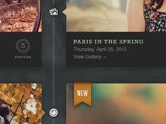 Paris in the spring - by Dave Ruiz    Great ribbon, typography and arrow treatments...