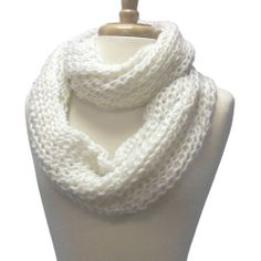Beginner Knitting Infinity Scarf | ... Thick Knit Infinity Circle Ring Scarf | Knit Scarves for Great Gifts