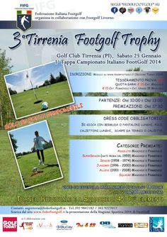 1° Tappa Nazionale Footgolf 2014 presso il Golf Club Tirrenia (PI) Sabato 25/01/14
