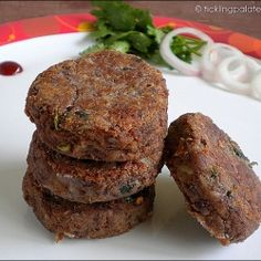 Rajma Tikkis - Red kidney beans Patties to have as a snack or to us in burgers.