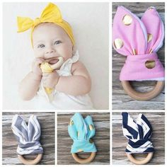 Organic All Natural Wooden Teething Ring made from Renewable Resource - ScooterBugDesign.com