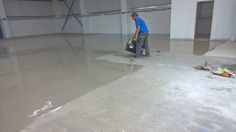 Priming and latexing with Uzin Universal primer and Uzin latex. Floor Preparation, Latex, Flooring, Wood Flooring, Floor