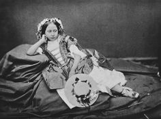 After Roger Fenton (1819-69) - The Grand Duchess of Hesse (1843-78) when Princess Alice as 'Spring'