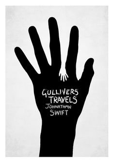 I've seen this concept before (another pin), I wonder which was first?    Gulliver's Travels Book Cover. $20.00, via Etsy.