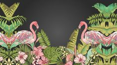 This Tropical Flamingo wallpaper is Specially Designed and Custom Made to fit almost Any Size of Your Walls! As a great revolution of traditional repetitive patterns, it makes your room as Artistic as with a Fabulous Mural!  ------------ Material ------------ All our artwork is printed on High Quality Germany Non-woven Paper with Laser Digital Printing Technology and Belgium Food-Safe Toners. ----------------- Advantages ----------------- 1. Moisture-proof & Mildew-proof Material  2…
