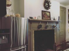 Took a look at a property for sale today as we contemplate moving to get more land versus staying with what we currently have.  Check out this fireplace in the kitchen!!! :) The house is over 100 years old I can imagine the family gatherings and meals this beauty has been around! #farmhouse #kitchenfireplace