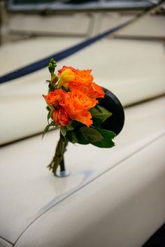 Wedding car decoration - classic Land Rover
