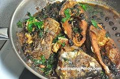 Tilapia with Salted Black Beans is also known as tilapia with tausi. This is a delicious dish involving the St. Bernard fish.