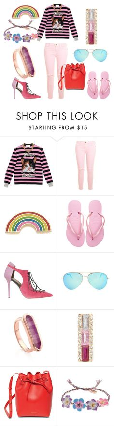 """""""Simple and Best"""" by cate-jennifer ❤ liked on Polyvore featuring Gucci, Current/Elliott, Georgia Perry, Havaianas, Malone Souliers, Victoria Beckham, Monica Vinader, EF Collection, Mansur Gavriel and Venessa Arizaga"""