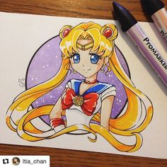 Usagi  . . #sailormoon #usagitsukino #Draw #Drawing #Art #Fanart #Artist #Illustration #Design #sketch #doodle #tattoo #Arthelp #Anime #Manga #Otaku #Gamer #Nerdy #Nerd #Comic #Geek #Geeky . . Geek drawings gallery.  Use #ArtForGeeks for a chance to be featured  Artist credit