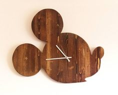 Hey, I found this really awesome Etsy listing at https://www.etsy.com/listing/507560347/24-mickey-mouse-inspired-wall-clock-wood