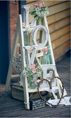 Awesome LOVE Letters Wedding Decor Ideas is part of Wedding helpers - There's no wedding without love! Many couples incorporate this word into their wedding décor in various creative ways, so today I'd like to share some ideas Rehearsal Dinner Decorations, Wedding Decorations, Rehearsal Dinners, Wedding Centerpieces, Chic Wedding, Our Wedding, Trendy Wedding, Wedding Vans, Wedding Reception