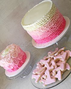 Pink Ombre Ruffles / Baby Shower or Birthday Party