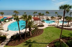 King and Prince Resort Pools.  St Simons Island, Georgia