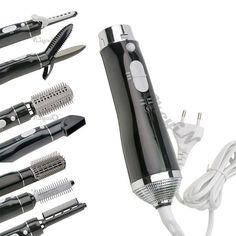 7 in 1 Multifunction Hair Dryer Hot Air Styler Concentrator Hair Nozzle Curling #Ckeyin