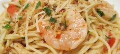 Spaghetti with shrimps and garlic with thermomix. Here is a recipe for Spaghetti with shrimps and garlic, simple and easy to make with the thermomix. Garlic Prawn Pasta, Spicy Garlic Shrimp, Garlic Spaghetti, Chicken And Shrimp Pasta, Shrimp Dishes, Spaghetti Recipes, Shrimp Spaghetti, Shrimp Risotto, Spaghetti Noodles