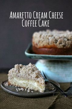 Amaretto Cream Cheese Coffee Cake #callmepmc - Easy cake to asemble, great for holidays and potlucks