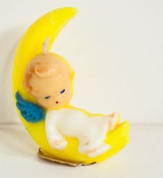 Vintage Gurley Angel in Moon Candle