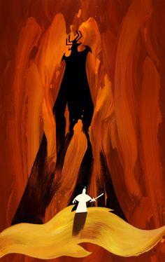 Samurai Jack Background Art Designed/Painted by the legendary crew of Bill Wray, Dan Krall and Scott Willis. Cartoon Network, Samurai Jack Wallpapers, Samurai Jack Background, Animation Programs, Samurai Warrior, Retro Futuristic, Fandoms, Manga, Concept Art