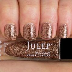 Thumbnail swatch bronze-dipped full-coverage microglitter nail polish