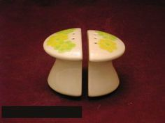 Franciscan Picnic Salt & Pepper by Franciscan Earthenware. $11.24. Mint Condition. Dimensions: N\A. Salt & Pepper - Green, Yellow And White Floral Design On Pale Green Background - Made In Usa