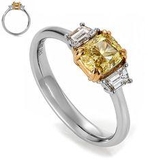 Gul diamant - Fancy Intense Yellow