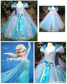 Elsa (Frozen) Inspired Tutu Dress - Dressing up / Costume in Clothes, Shoes & Accessories, Fancy Dress & Period Costume, Fancy Dress Cinderella Tutu Dress, Princess Tutu Dresses, Elsa Dress, Princess Costumes, Tulle Dress, Frozen Tutu Dress, Costume Halloween, Costume Carnaval, Olaf Halloween
