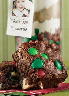Christmas Candy Brownie Mix