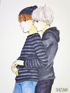 yoonmin back hug