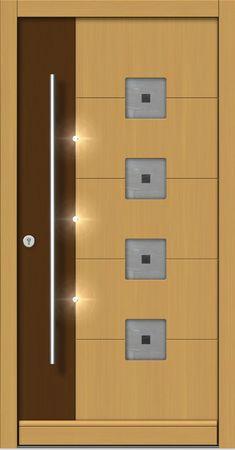 Flush Door Design, Single Door Design, Wooden Front Door Design, Main Entrance Door Design, Wooden Front Doors, Painted Front Doors, Bedroom Door Design, Door Design Interior, Montage