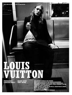 Erik Andersson shot by Lachlan Bailey and styled by Tony Irvine with pieces from Louis Vuitton, for the cover story of 10 Men #31.
