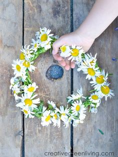 How to make a daisy chain flower crown or bracelet with real flowers. This easy DIY tutorial shows you how to make a floral headband or crown from daisies, dandelions or other wildflowers. #creativegreenliving #daisychain #flowercrown #kidscrafts Diy And Crafts, Crafts For Kids, Simple Crafts, Easter Crafts, Make A Crown, Easy Craft Projects, Daisy Chain, Dollar Store Crafts, Nature Crafts
