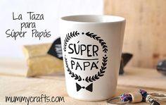 Taza decorada con un mensaje especial para el Día del Padre. Más