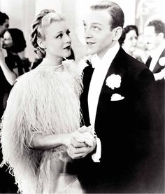 heaven ... i'm in heaven. <3 ['cheek to cheek' from 'top hat', fred astaire and ginger rogers]