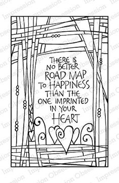 Road Map Sentiment - Cling Rubber Stamp