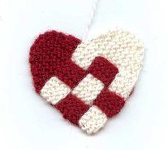 hjärta med stickning