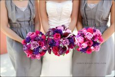 purpley flowers with grey dresses