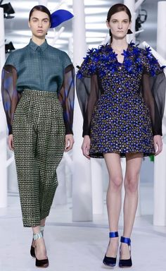 Delpozo Fall 2015 inspired by visual artist Rhys Lee and Andrey Remney's take on Pre-Raphaelite paintings - looks 3 and 34 at Moda Operandi