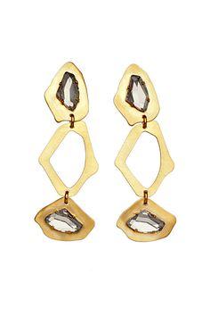 Elie Saab gold earrings....want
