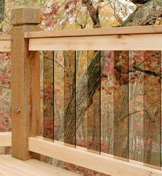 The Deck Handbook- slatted glass railings.