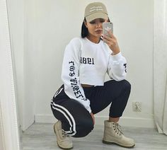 Best Baddie Outfits Part 5 Chill Outfits, Dope Outfits, Casual Outfits, Fashion Outfits, Womens Fashion, Fashion Ideas, Fashion Skirts, Mode Dope, Outfit Goals